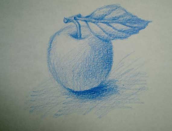 色鉛筆3本で描く ②