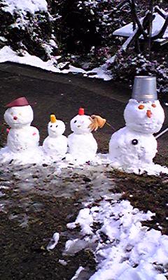 雪だるま家族/作成者 しょうくん